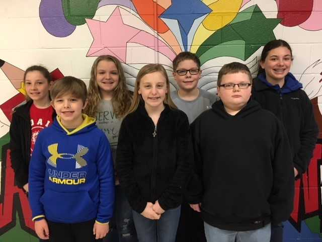 Sixth Grade Students of the Month