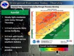 Widespread rainfall is expected later today