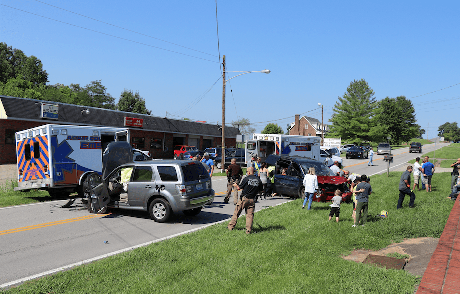 Saturday wreck injures five